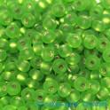 Rocailles 4.5mm silbereinzug matt hellgrün 20g