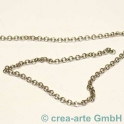 Chaine bijoux couleur argent 4mm, par 10cm