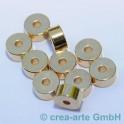 Metallperlen 7mm, goldfarbig,10 St
