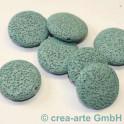 Lentille Perle Lava turquoise 25x8mm 7 pieces
