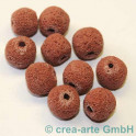 Lavaperlen rund , rot 14mm, 10 Stück