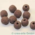 Lavaperlen rund, lila 11mm, 10 Stück
