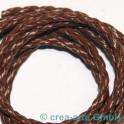 cuire tressés 3mm, brun