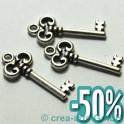 Metallanhänger Schlüssel, 30x13mm, 3 Stück