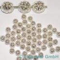 GP Metallperlen silberfarbig 60 Stück
