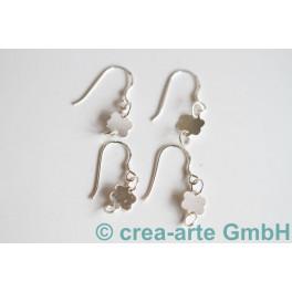 Ohrhaken mit Blumenanhänger 925er Silber 4 St._1727