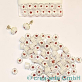 Murrine effetre fiore bianco 50g. 8-9mm_1957