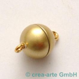 Magnetkugelverschluss 10mm, gold matt_1965