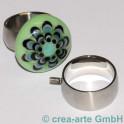 Edelstahl Fingerring 18mm, breit