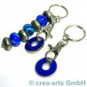 Schlüsselanhänger mit Chips, blau