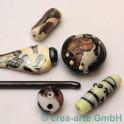 Handmade dark silver plum 5-6mm, 1m