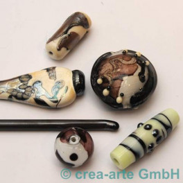 Handmade dark silver plum 5-6mm, 1m_2581
