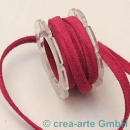 Wildlederband 5mm, fuchsia_2586