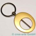 Ovalschlüsselanhänger metallic goldfarbig_2594