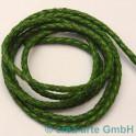 cuire tressés 3mm, vert