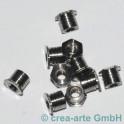 Fingerring-Muttern, offen, 4mm, 10 Stück