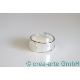 Fingerring mit Platte 10mm, 20-26mm 925er Silber_275