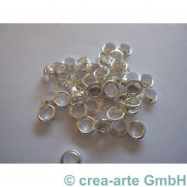 Perlenhülsen 4mm versilbert 50 St._2750