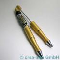 Perlenkugelschreiber gold