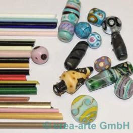 Glasstangenset 20 St. handgezogen, Reaktionsfarben_2795