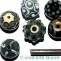handmade verde grigio 5-6mm
