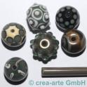 handmade verde grigio 6-7mm