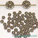 GP Metallperlen nickelfarbig 60 Stück