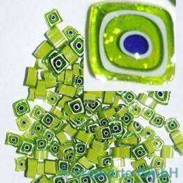 Murrine effetre blu-bianco-verde 50g. D=ca.4-8mm_2913