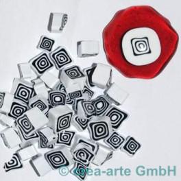 Murrine effetre nero-bianco  50g. 5-10mm_2964