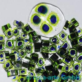 Murrine effetre blu-critstallo-verde  50g. ca.6-9m_2968