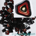 Murrine effetre rosso-critstallo-nero 50g. ca.6-9m