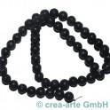 Perles de Lava tondes 8mm polit, 1cord (50pieces)