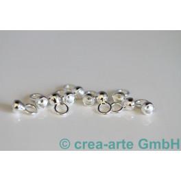 Kalotten 4mm mi Ring, 925er Silber, 10 Stück_3027