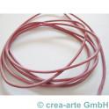 Lederband, ca 1.5mm, 1m rosa