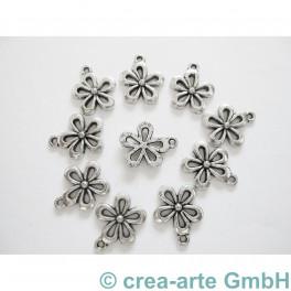 Blumenanhänger, 15x18mm, 10 Stück_3201