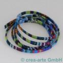 Textilband Retrofarben blau-grün 1m