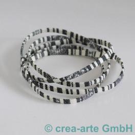Textilband weiss/schwarz 1m_3459