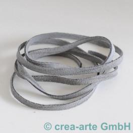 Wildlederband 5mm, 1m grau_3462