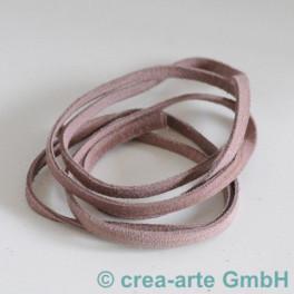 Wildlederband 5mm, 1m altrosa_3463