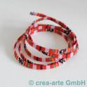 Textilband Retrofarben rot/rosa 1m