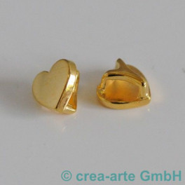 Herz mit Schlaufe goldfarbig, 2 Stück_3468