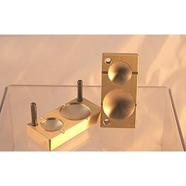 Perlenpresse zwei Linsen mit Rand 36 und 26mm_3577