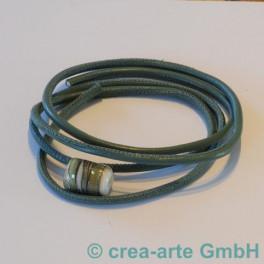 Nappaleder rund 4mm, 1m, salbei_3593