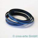 Flachlederband dunkelblau 1m