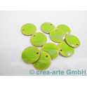 Metallplättchen hellgrün 12mm, Dicke 2.5mm,