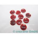 Metallplättchen rot 12mm, Dicke 2.5mm, Bohrung 1mm