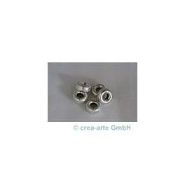 Ring versilbert 4mmx9mm, Bohrung 3mm, 5 Stk_4197