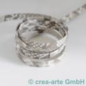 Flachlederband grey mit Python Prägung