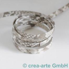 Flachlederband grey mit Python Prägung_4284