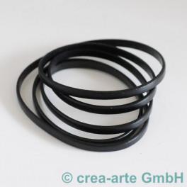 Flachlederband schwarz 5mm, 1m_4293